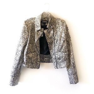 ⭐️ NWT Buckle Gold Leopard print Moto jacket